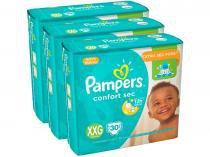 Kit Fraldas Pampers Confort Sec Tam. XXG - + de 14kg 3 Pacotes com 30 Unidades Cada