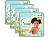 Kit Fraldas Pampers Premium Care Tam. XXG - + de 14Kg 24 Unidades Cada 4 Pacotes