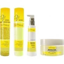 Kit Fruit Therapy Left Melão + Macadamia Shampoo, Condionador 275ml, Leave-in 160ml e Máscara 250g - Leads care