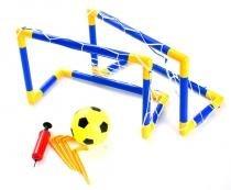 Kit futebol com trave, rede, bola e bomba bel fix - U - Bel fix