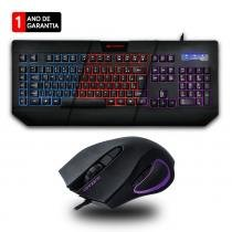 Kit Gamer C3 Tech Teclado C/ Macro + Mouse 3200dpi - Preto