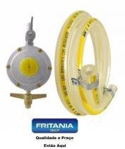 Kit gás- regulador registro aliança+mangueira 5,0 m c 6255 - Fritania