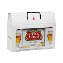 Kit Gift Stella - 1 pack com 6 Long Necks + 2 Cálices Stella Artois - Stella Artois