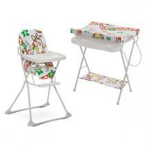 Kit Girafas Galzerano com Cadeira de Alimentação e Banheira - Neutro - Neutro - Galzerano