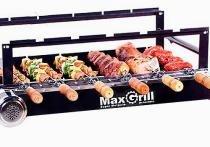 Kit giratorio max grill 06 espetos para churrasco - preto - metalrio - Metal rio