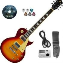 Kit Guitarra Cherry Sunburst Com Afinador Capa Eg2k Guit Sx - Sx