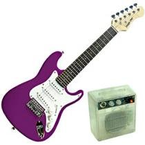 Kit Guitarra Strato Infantil Stage One Mini Guitar - Roxo