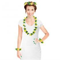 Kit Havaiano Verde e Amarelo Brasil 4 peças CP050 - Festabox
