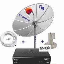 Kit HD Parabolica Century Digital com Antena Parabolica, Receptor Digital HD, Cabo e Conectores - Century