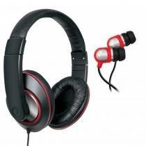 Kit headphone DJ e earphone para iPad, iPhone, iPod, Smartphones e MP3 Players DGHP4004 Isound -