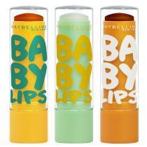Kit Hidratante Labial Maybelline Baby Lips Super Frutas - Abacaxi-Hortelã + Limão + Cacau - Maybelline