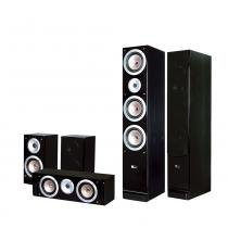 Kit Home Theater 5.0 Caixas Acústicas - Mod. QX900 - Pure Acoustics -