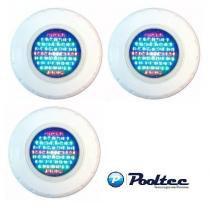 Kit Iluminação para Piscina 3 Led 65 ABS RGB Colorido - Até 27 m² + Garras Adaptadoras - Pooltec
