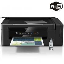 Kit Impressora Multifuncional Epson Ecotank L395 Jato de Tinta Color e Refil de Tinta Preto T664120 -