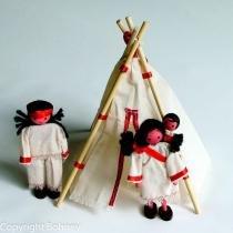 Kit indígena com tenda e índios - BOHNEY