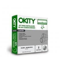 Kit Instalação Ar Condicionado Split 24.000 a 30.000 - 3m sem Suporte - Okity -