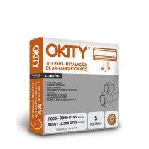 Kit Instalação Ar Condicionado Split 7.000 a 9.000 - 5m com Suporte - Okity -