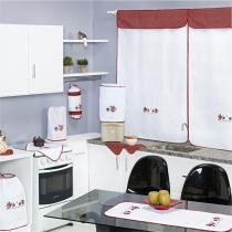 Kit Jogo de Cozinha Casa Bella 10 Peças Bule Poá - Vilela - Vilela Enxovais