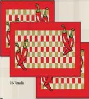 Kit Jogo para Cozinha Antiderrapante 3 pçs Pepper - J. Serrano