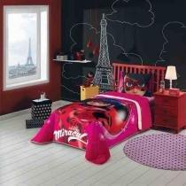 Kit Ladybug Edredom + Cortina + Toalha Lepper -