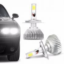Kit Lâmpada Super LED 3D Headlight H4 6000K 12V e 24V 40W 9000LM Par Efeito Xênon Fonte Embutida - Prime