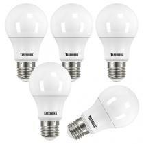 Kit Lâmpadas LED 5 Peças 6W 3000K Amarela - Taschibra TKL 500