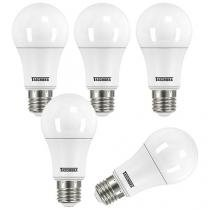 Kit Lâmpadas LED 5 Peças 9W 3000K Amarela - Taschibra TKL 900