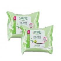Kit Lenço Umedecido Facial Simple Wipes Cleansing 25un 50 na 2 unidade -