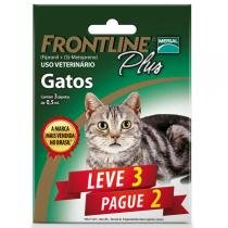 Kit Leve 3 Pague 2 - Antipulgas e Carrapatos Frontline Plus para Gatos - Merial