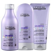 Kit Liss Unlimited LOréal Professionnel Shampoo 250ml, Condicionador 150ml e Creme 200ml - Loreal