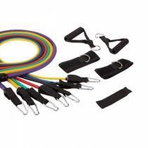 Kit Liveup Extensor com 7 Elásticos LS3634 para Exercícios de Fortalecimento - Live up
