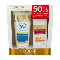 Kit LOréal Expertise Supreme Protetor Solar FPS 50 200ml + Protetor Facial FPS 60 50ml - Discret