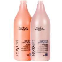Kit Lumino Contrast LOréal Professionnel  Shampoo e Condicionador 1,5L - Loreal
