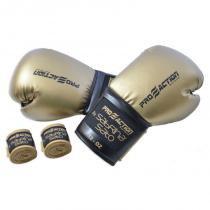 Kit Luva de Boxe 12oz e Bandagem Elástica Proaction By SABRINA SATO - ProAction