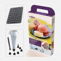 Kit Macarons com Forma de Silicone Bico Dosador e 6 Moldes MASTRAD - Mastrad