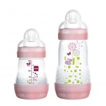 Kit Mamadeira First Bottle 160 + 260ml Rosa Mam -