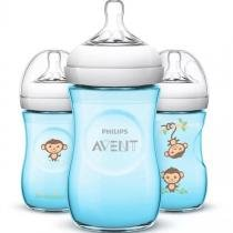 Kit Mamadeira Pétala Macaquinho 260 ml Pack com 3 - Philips Avent -
