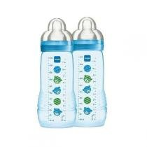 Kit Mamadeiras Fashion Bottle 2 Peças (4M+) 330ML BOYS MAM 4843 -