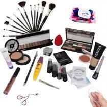 Kit Maquiagem Completa Ruby Rose Brinde Máscara facial BZKT01 - Bazarnaweb