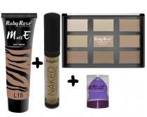 Kit Maquiagem Ruby Rose Pele Incrível 5 -