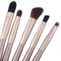 Kit Maquiagem Sombra com 5 Pincéis Profissional + Case - aladimshop