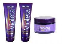 Kit Matizador Reflexo Violeta Biocale Máscara 180g, Shampoo e Condicionador 240ml - Biocale