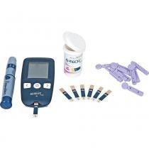 Kit Medidor de Glicose com Lancetador e Estojo G-Tech Free -