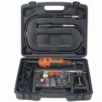 Kit micro retífica com 113 acessórios - RT18KA - Black + Decker (110V) -