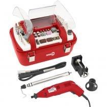 Kit micro retífica com 249 acessórios - AMR 250 - Nove54 (110V) - Nove54