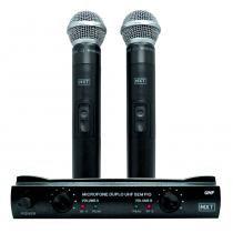 Kit Microfone sem Fio Duplo/Receptor/Maleta 687,6-695.5mhz UHF302 - MXT - MXT