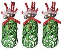 Kit Mini Sino de Natal Decoracao Natalino com 3 Unid Verde - Braslu