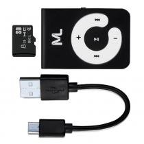 Kit mp3 player 80 mah microsd 8gb e cabo micro usb - mc300 - Multilaser