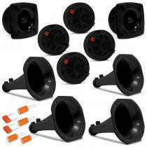 Kit Musicall 4 Drivers 240W RMS + 2 Tweeters 120W RMS + 4 Cornetas Longas + 6 Capacitores -