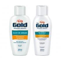 Kit Niely Gold Pós Química Shampoo 300ml + Condicionador 200ml - NIELY